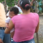 mom and baby in the Dominican Republic