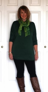 Green jersy top