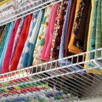 Organizing fabric with wire shelving