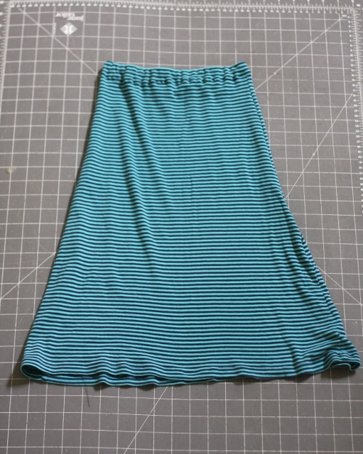 Completed skirt
