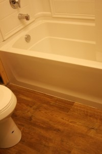 My lovely new flooring.  And tub.  And toilet.